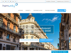 Détails : Homunity, Crowdfunding immobilier